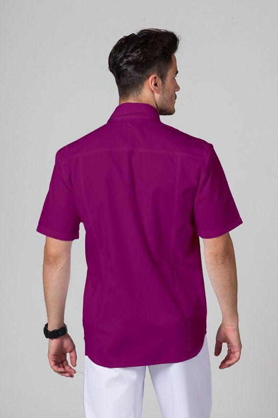 bluzy-medyczne-meskie Klasyczna bluza medyczna męska oberżyna