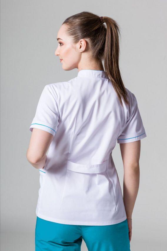 zakiety Żakiet ze stójką Sunrise Uniforms biały z turkusową lamówką
