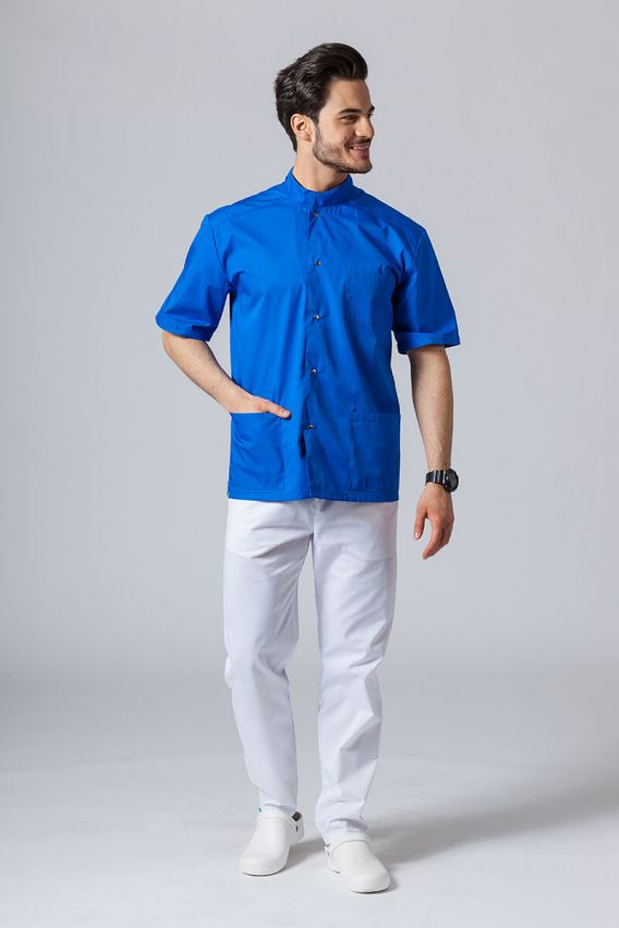 bluzy-medyczne-meskie Koszula/bluza medyczna męska ze stójką królewski granat