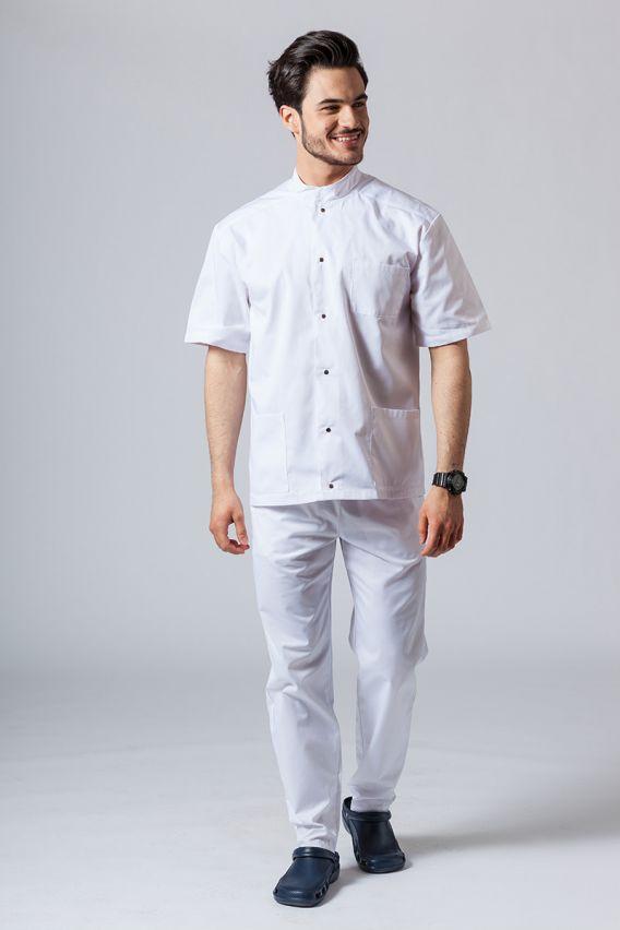 bluzy-medyczne-meskie Koszula/bluza medyczna męska ze stójką biała