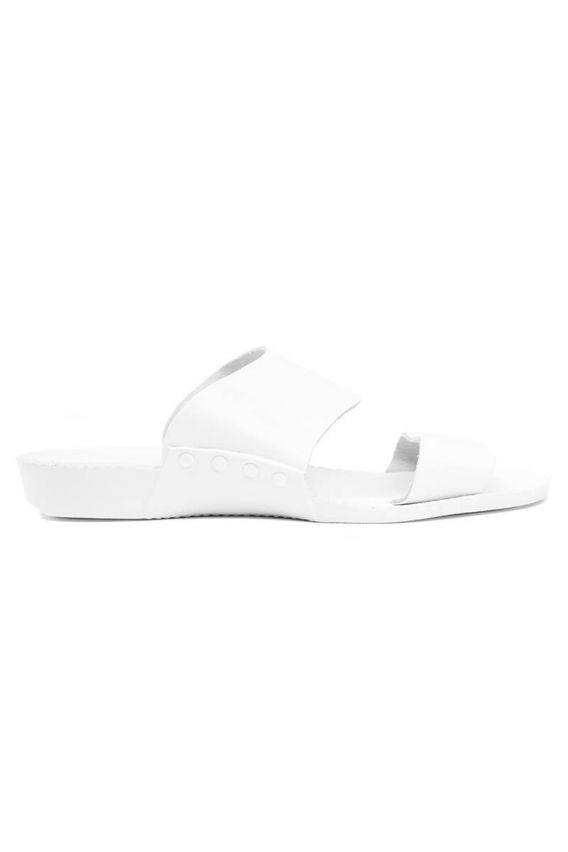 obuwie-medyczne-damskie Klapki medyczne Medibut białe (wzór 01)