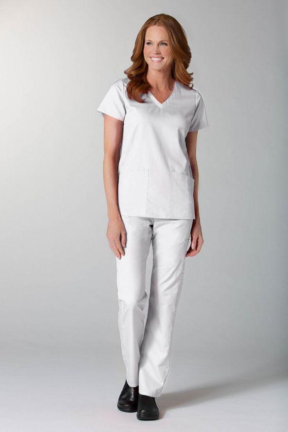 spodnie-medyczne-damskie Spodnie damskie Maevn EON Classic Yoga białe