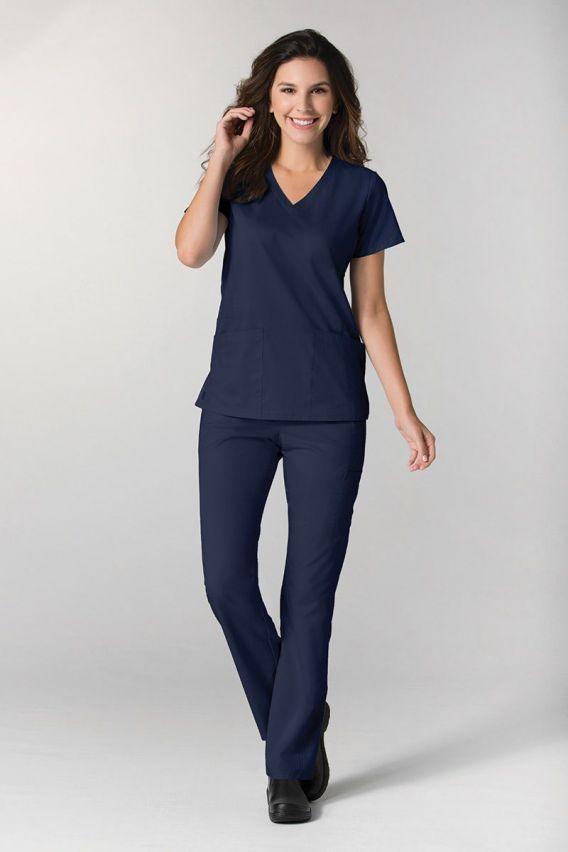 spodnie-medyczne-damskie Spodnie damskie Maevn EON Classic Yoga ciemny granat