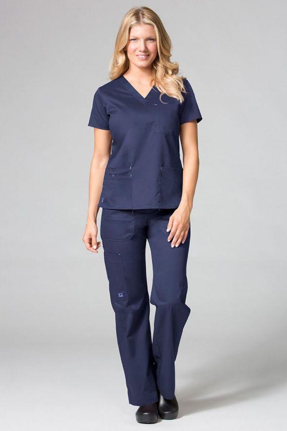 spodnie-medyczne-damskie Spodnie medyczne damskie Blossom (elastic) ciemny granat