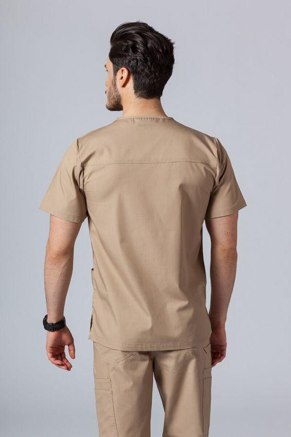 bluzy-medyczne-meskie Bluza męska Maevn Red Panda beżowa