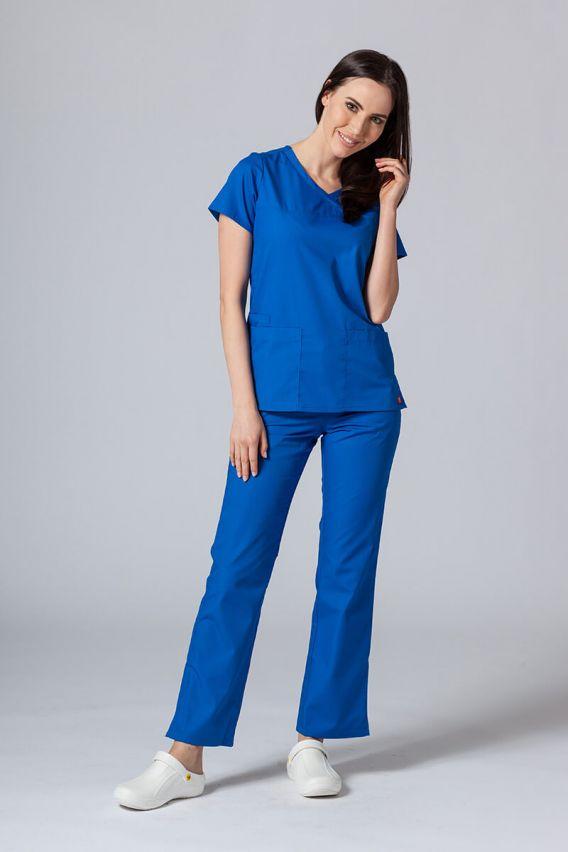 bluzy-medyczne-damskie Bluza damska Maevn Red Panda Asymetric królewski granat