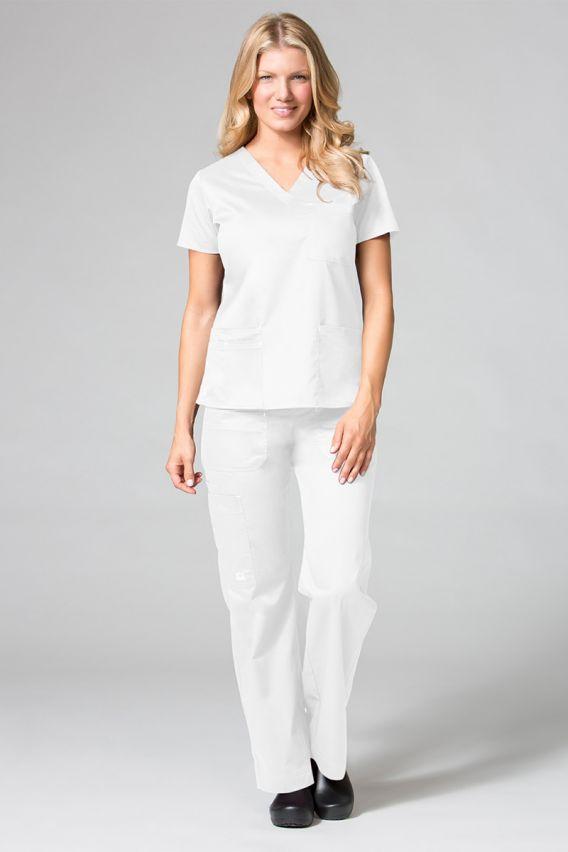 spodnie-medyczne-damskie Spodnie medyczne damskie Maevn Blossom (elastic) białe