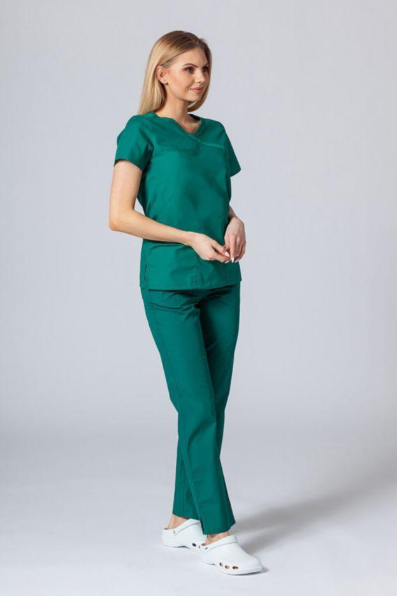 bluzy-medyczne-damskie Bluza damska Maevn Red Panda Asymetric zielona