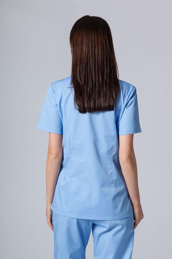 bluzy-medyczne-damskie Bluza medyczna damska Sunrise Uniforms niebieska taliowana