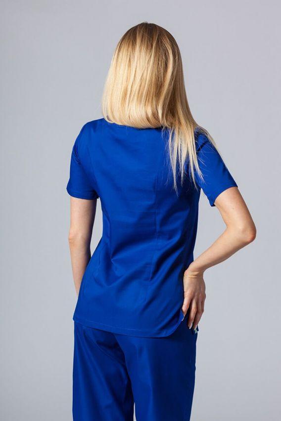 bluzy-medyczne-damskie Bluza medyczna damska Sunrise Uniforms granatowa taliowana