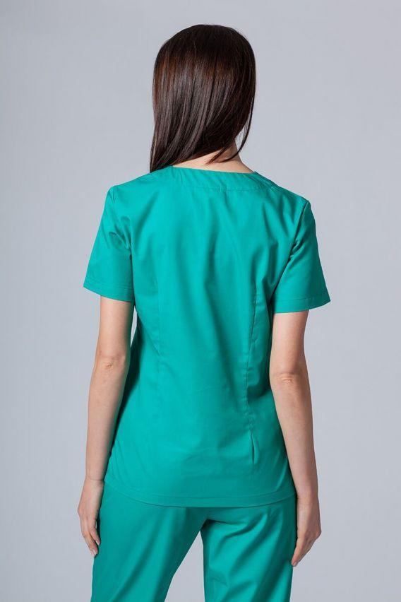 bluzy-medyczne-damskie Bluza medyczna damska Sunrise Uniforms zielona taliowana