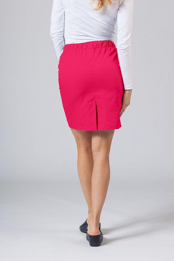 spodnice Spódnica medyczna krótka Sunrise Uniforms malinowa