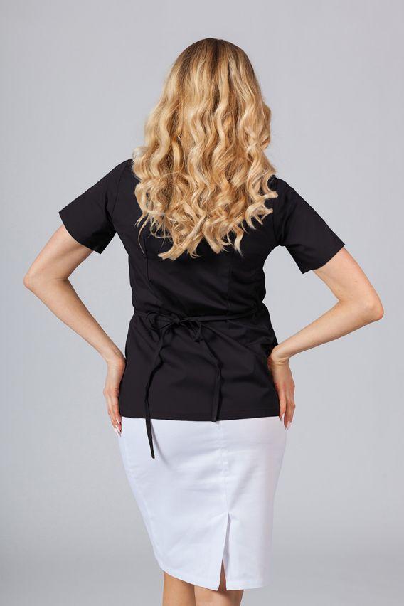 bluzy-medyczne-damskie Fartuszek/bluza damska wiązana Sunrise Uniforms czarny