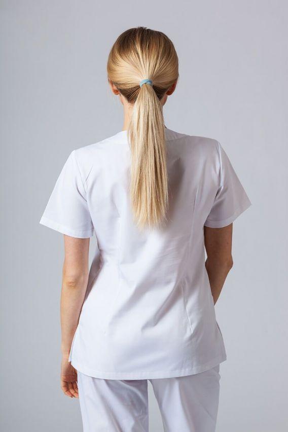 bluzy-medyczne-damskie Bluza medyczna damska Sunrise Uniforms biała taliowana