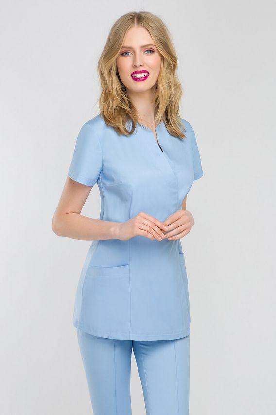 bluzy-medyczne-damskie Fartuszek medyczny wiązany Vena Spa 4 błękitny