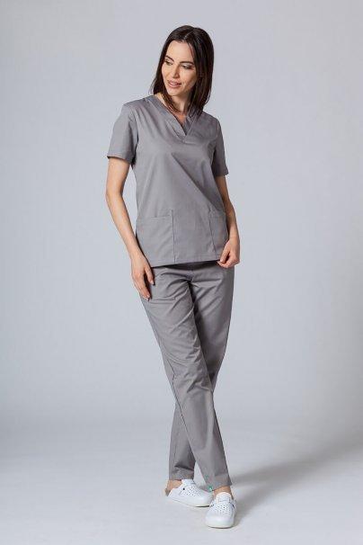 bluzy-medyczne-damskie Bluza medyczna damska Sunrise Uniforms szara taliowana