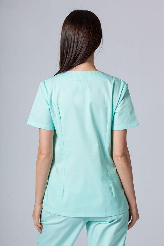 bluzy-medyczne-damskie Bluza medyczna damska Sunrise Uniforms miętowa taliowana