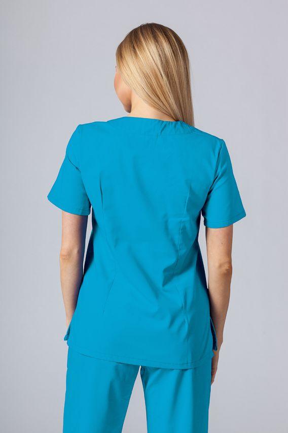 bluzy-medyczne-damskie Bluza medyczna damska Sunrise Uniforms turkusowa taliowana promo