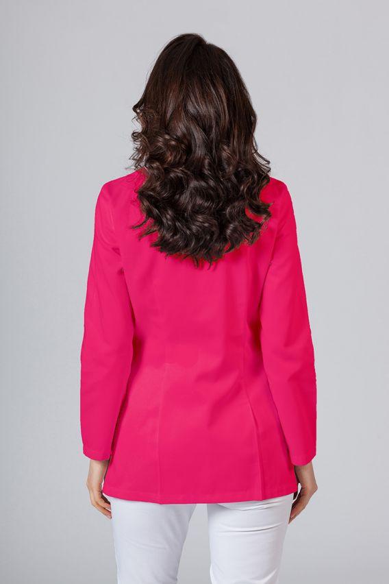 fartuchy-medyczne-damskie Fartuch medyczny Sunrise Uniforms krótki z długim rękawem malinowy