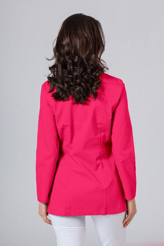 fartuchy-medyczne-damskie Fartuch medyczny Sunrise Uniforms krótki z długim rękawem (kryte napy) malinowy