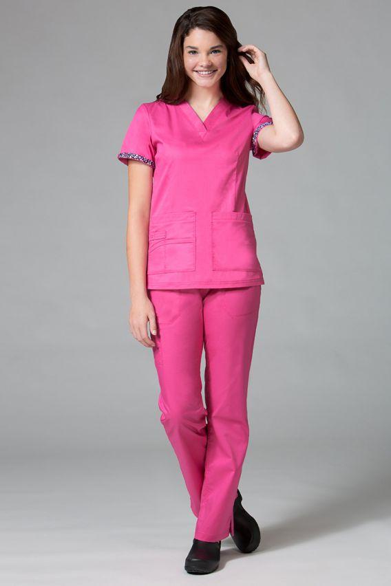 bluzy-medyczne-damskie Bluza damska Maevn PrimaFlex różowa