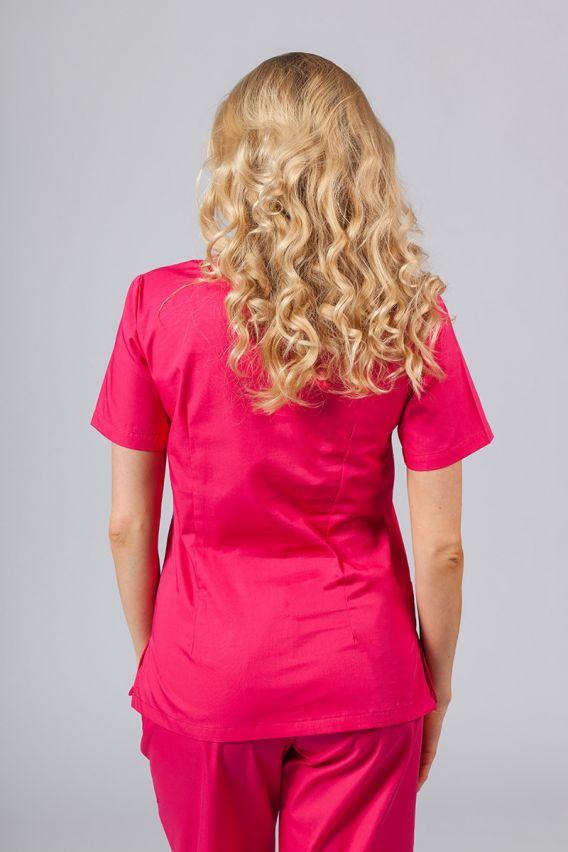 bluzy-medyczne-damskie Bluza medyczna damska Sunrise Uniforms malinowa taliowana