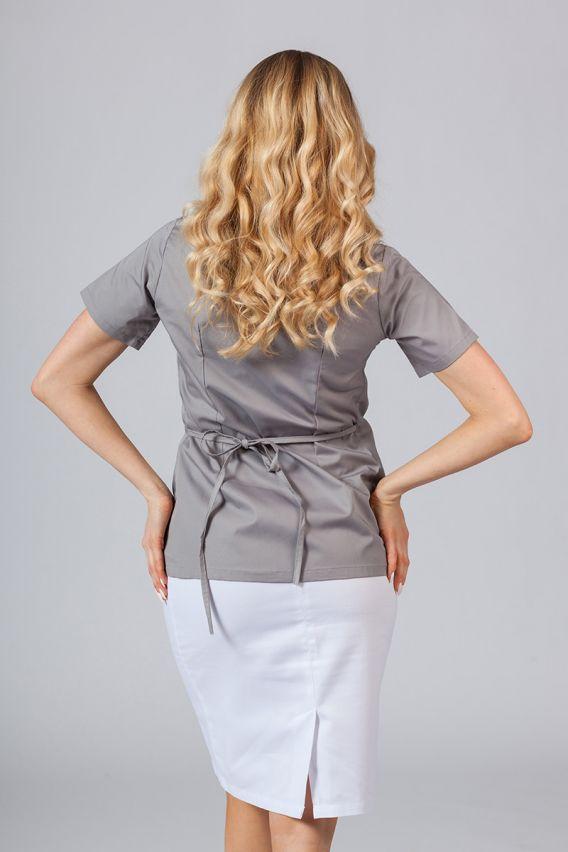 bluzy-medyczne-damskie Fartuszek/bluza damska wiązana Sunrise Uniforms szara