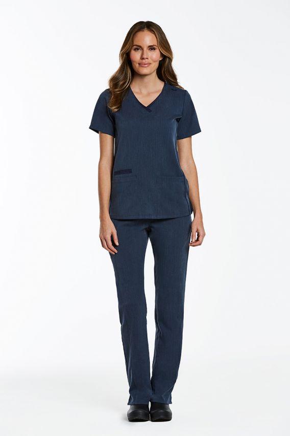 bluzy-medyczne-damskie Bluza damska Maevn Matrix Pro granat denim