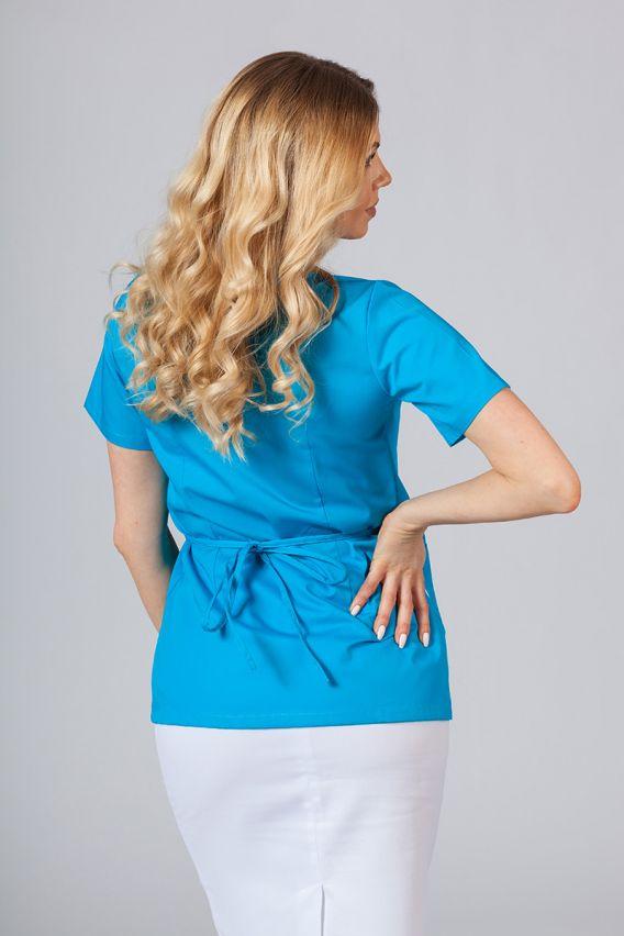 bluzy-medyczne-damskie Fartuszek/bluza damska wiązana Sunrise Uniforms turkusowa