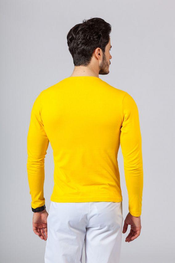 koszulki-medyczne-meskie-z-dlugim-rekawem Koszulka męska z długim rękawem żółta