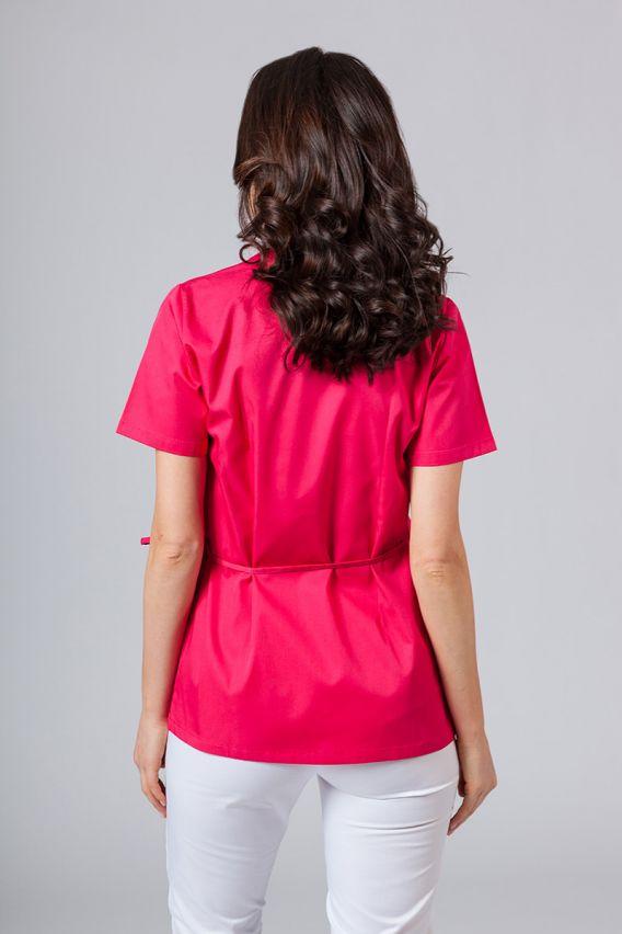 bluzy-medyczne-damskie Fartuszek/bluza damska wiązana Sunrise Uniforms malinowa