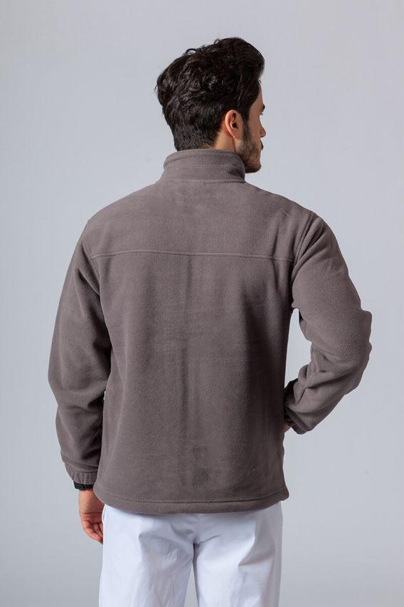 bluzy-polarowe-meskie Bluza polarowa męska stalowa