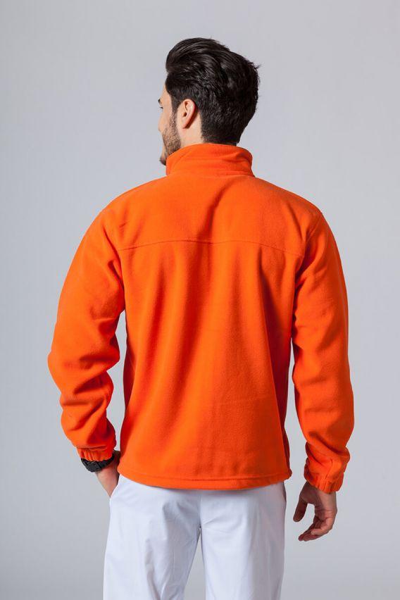 bluzy-polarowe-meskie Bluza polarowa męska pomarańczowa