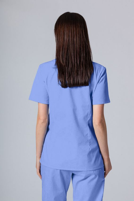 bluzy-medyczne-damskie Bluza medyczna damska Sunrise Uniforms ciemny błękit taliowana