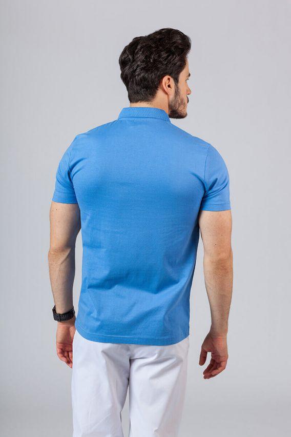 koszulki-medyczne-meskie Koszulka męska Polo lazurowa