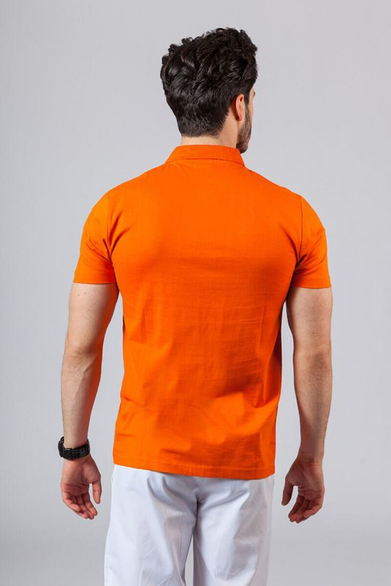 koszulki-medyczne-meskie Koszulka męska Polo pomarańczowa