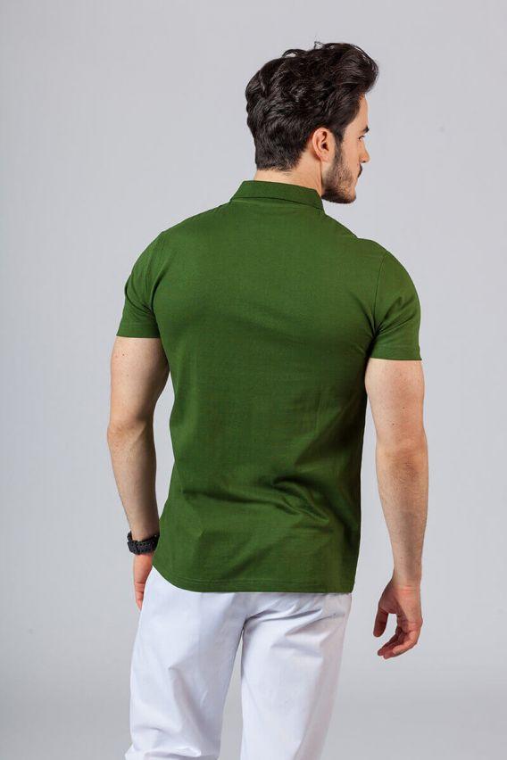 koszulki-medyczne-meskie Koszulka męska Polo butelkowa zieleń