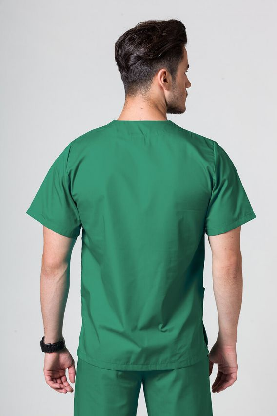 bluzy-medyczne-meskie Bluza medyczna uniwersalna Sunrise Uniforms ciemo zielona promo