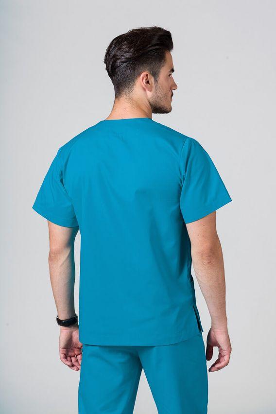bluzy-medyczne-meskie Bluza medyczna uniwersalna Sunrise Uniforms turkus promo