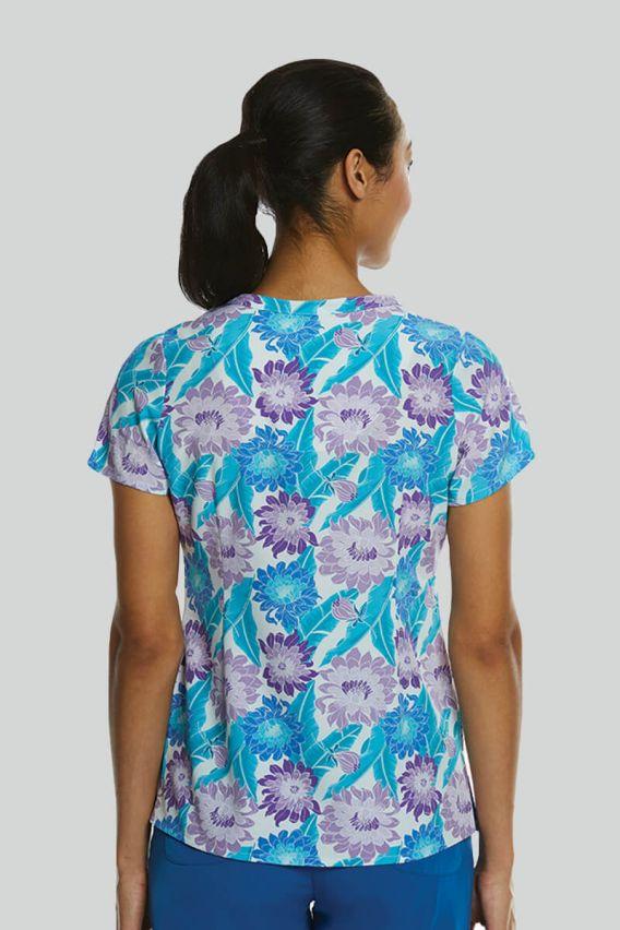 bluzy-medyczne-damskie Kolorowa bluza damska Maevn Prints wiosenny bukiet