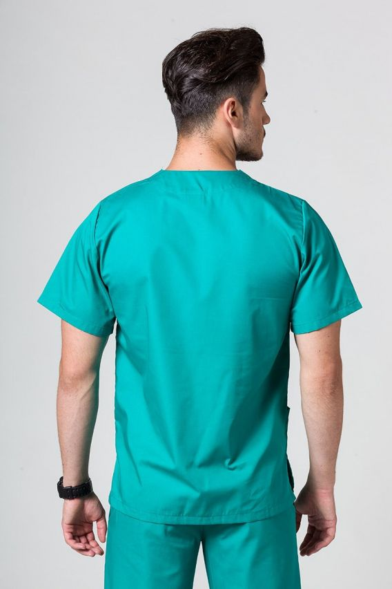bluzy-medyczne-meskie Bluza medyczna uniwersalna Sunrise Uniforms zielona