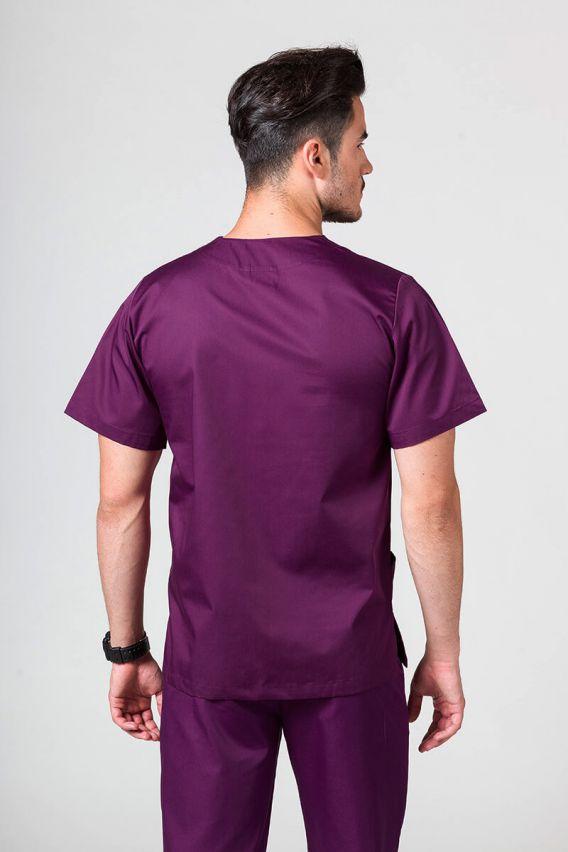 bluzy-medyczne-meskie Bluza medyczna uniwersalna Sunrise Uniforms ciemna oberżyna