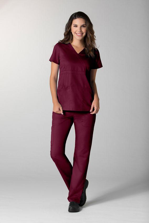 spodnie-medyczne-damskie Spodnie damskie Maevn EON Style wiśniowe