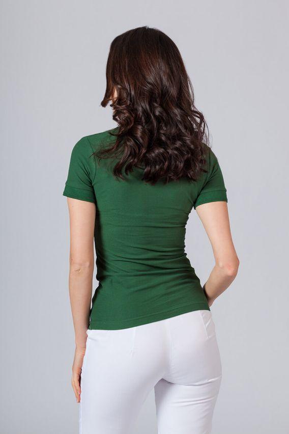 polo-damskie Koszulka damska Polo butelkowa zieleń