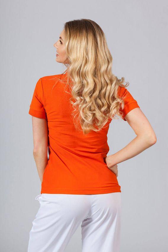 polo-damskie Koszulka damska Polo pomarańczowa