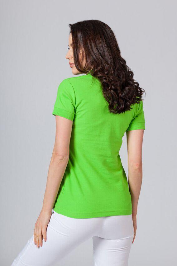 polo-damskie Koszulka damska Polo zieleń jabłkowa
