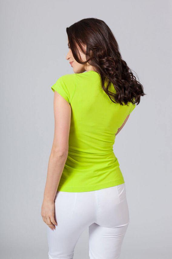 koszulki-medyczne-damskie Koszulka damska z krótkim rękawem limonka