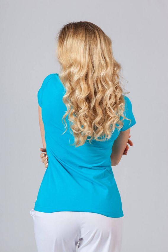 koszulki-medyczne-damskie Koszulka damska z krótkim rękawem turkusowa