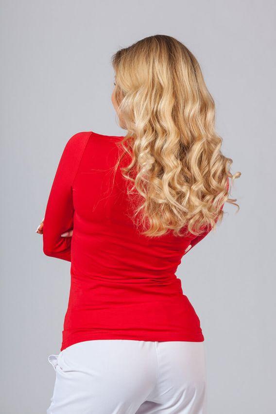 koszulki-medyczne-damskie Koszulka damska z długim rękawem czerwona