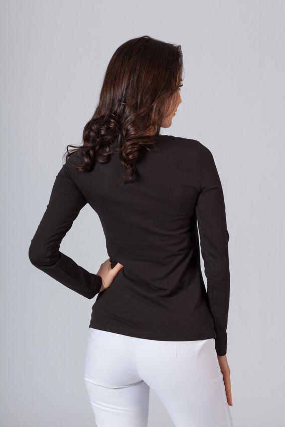 koszulki-medyczne-damskie Koszulka damska z długim rękawem czarna